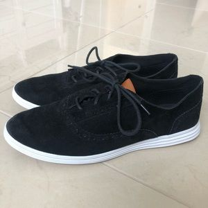 Black Suede Cole Haan Oxford Style Sneaker